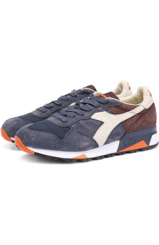 Замшевые кроссовки с кожаной отделкой и текстильными вставками Diadora Heritage 201.161885