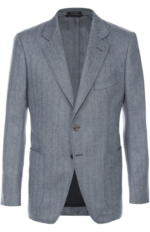 Однобортный пиджак из смеси шерсти и шелка Tom Ford 916R451DYJ40