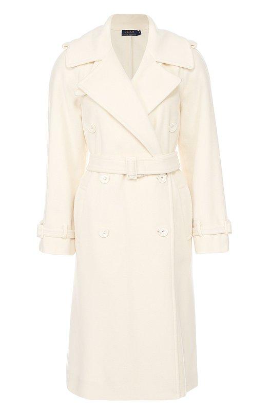 Шерстяное пальто с широкими лацканами и поясом Polo Ralph Lauren V30/XZ2LF/XY2LF