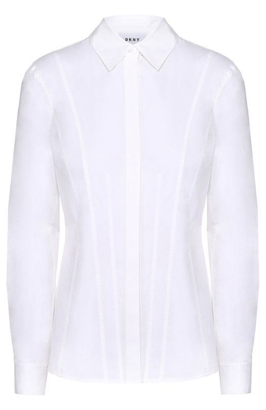 Хлопковая приталенная блуза DKNY P3622305C