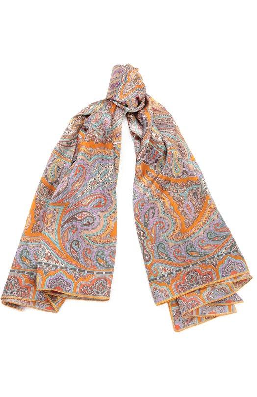 Купить Шелковый платок с принтом Michele Binda, 170036195, Италия, Разноцветный, Шелк: 100%;