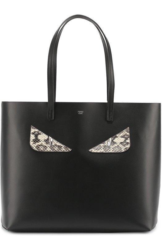 Сумка-шоппер с аппликацией Bag Bugs из кожи питона Fendi 8BH335/80P