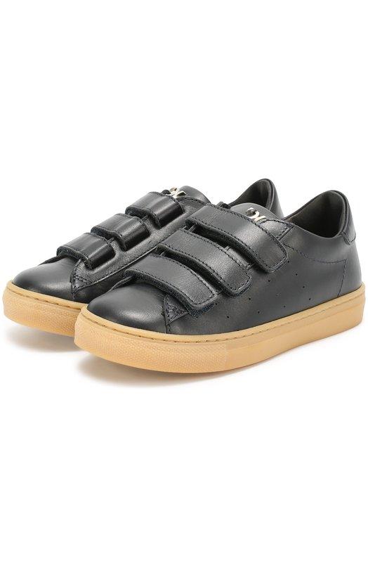 Кожаные кеды с застежками велькро BillionaireСпортивная обувь<br><br><br>Российский размер RU: 34<br>Пол: Мужской<br>Возраст: Детский<br>Размер производителя vendor: 34<br>Материал: Кожа натуральная: 100%; Стелька-кожа: 100%; Подошва-резина: 100%;<br>Цвет: Темно-синий