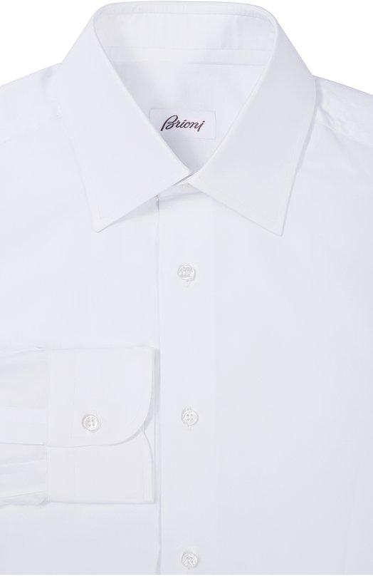 Купить Хлопковая сорочка с воротником кент Brioni, RCL8/0501R, Италия, Белый, Хлопок: 100%;
