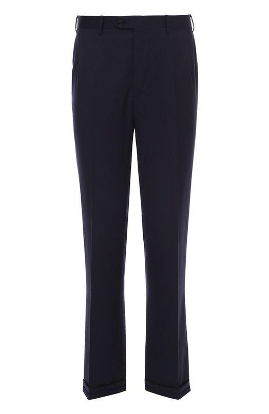 Шерстяные брюки прямого кроя Brioni RPL1/PZA0R/C0RTINA