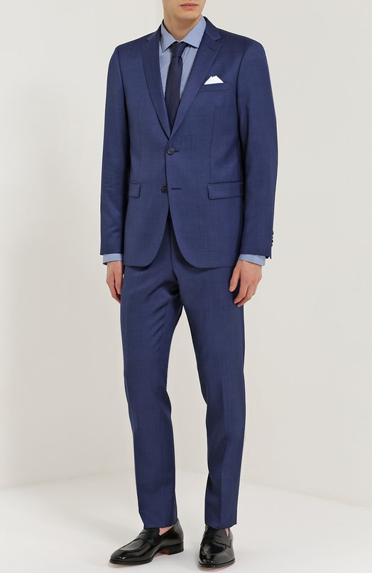 Купить Шерстяной костюм с пиджаком на двух пуговицах Sand, 1938/STAR-CRAIG, Португалия, Темно-синий, Подкладка-вискоза: 50%; Подкладка-ацетат: 50%; Шерсть: 100%;