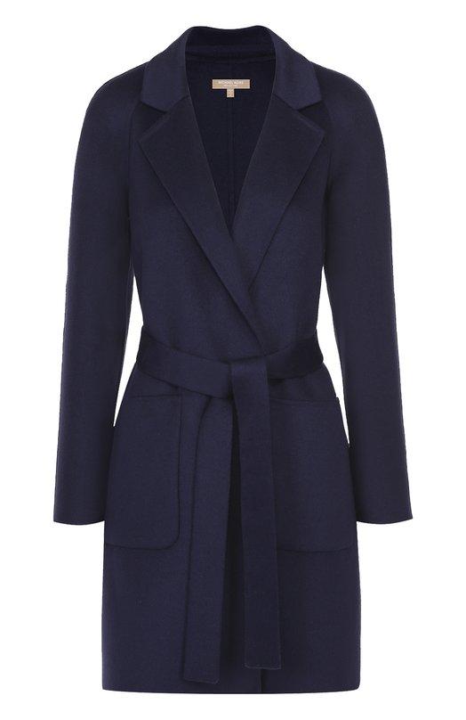 Пальто прямого кроя с поясом и накладными карманами Michael Kors KRH510D/RH612
