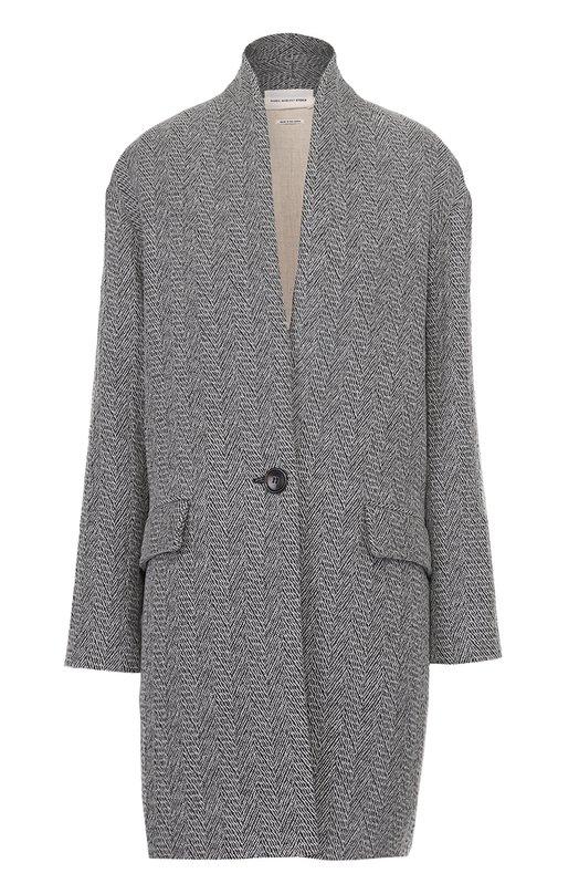Пальто прямого кроя с карманами и воротником-стойкой Isabel Marant Etoile MA0243-17P005E/EDIL0N