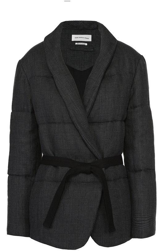 Утепленная куртка с отложным воротником и поясом Isabel Marant Etoile VE0583-17P008E/JAR0D