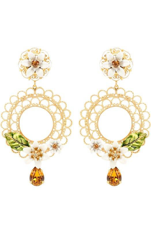 Серьги-клипсы с кристаллами Swarovski Dolce & Gabbana 0136/WEJ2C3/W0001
