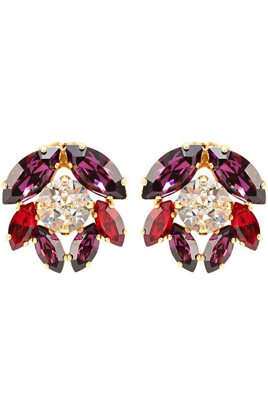 Серьги-клипсы с кристаллами Swarovski Dolce & Gabbana 0136/WEJ2N5/W0001