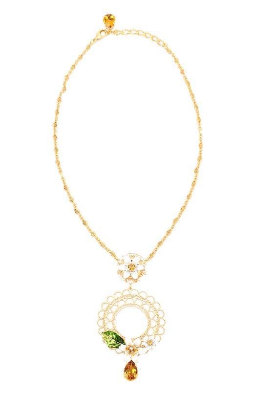 Колье с кристаллами Swarovski Dolce & Gabbana 0136/WNJ2C2/W0001