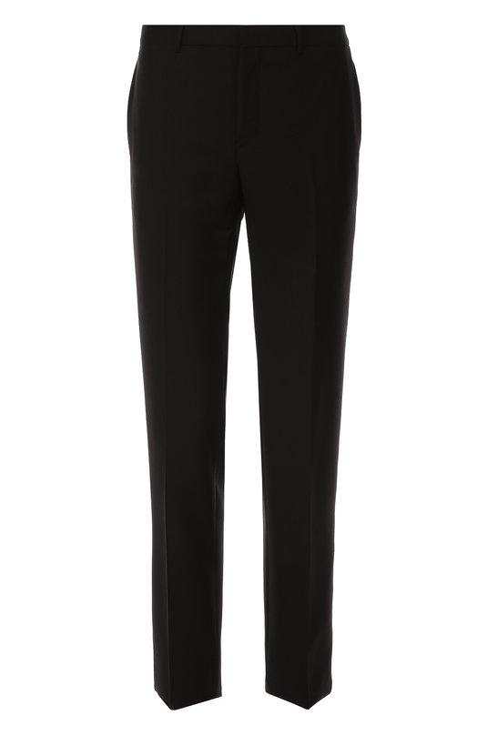 Шерстяные брюки прямого кроя с декоративной цепью Givenchy