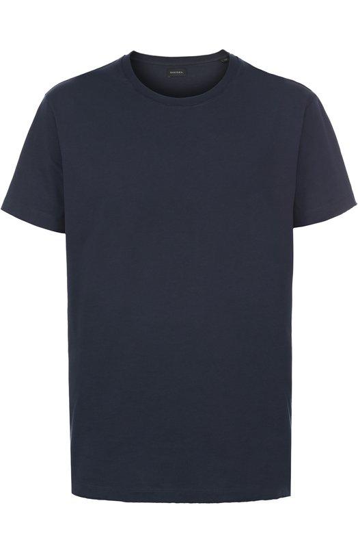 Хлопковая футболка с круглым вырезом Diesel 00SRFR/0091B