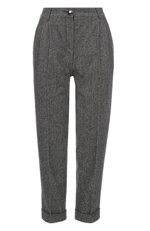Укороченные шерстяные брюки с защипами Dolce & Gabbana 0102/FTA00T/FCMBT