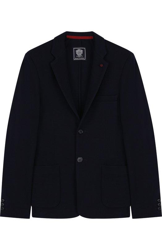 Шерстяной однобортный пиджак Dal Lago N068S/7715/XS-L