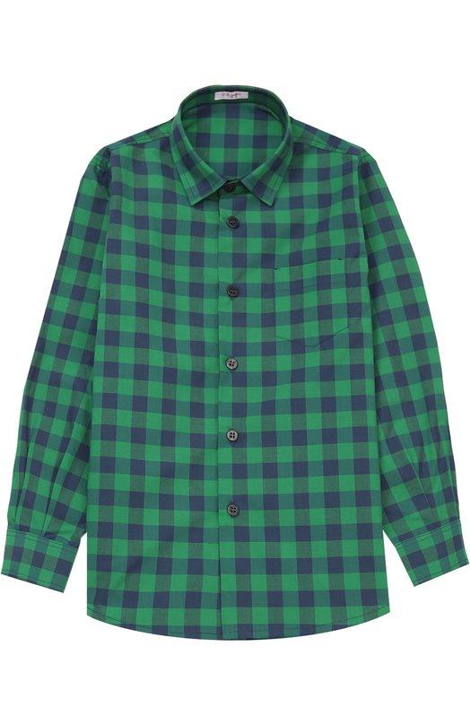 Хлопковая рубашка в клетку Il Gufo A16CL110/C3088/5-8