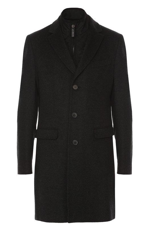 Однобортное пальто из смеси шерсти и кашемира с подстежкой Sand CASHMERE C0AT/SULTAN TECH