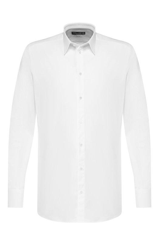 Хлопковая сорочка с воротником кент Dolce & Gabbana 0101/G5DM7T/FUEAJ