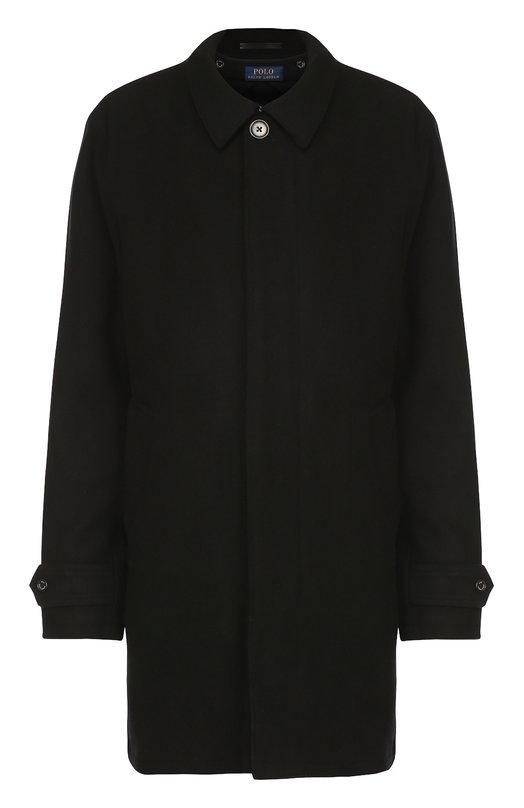 Шерстяное пальто прямого кроя с отложным воротником Polo Ralph Lauren A34/JLK41/NG452
