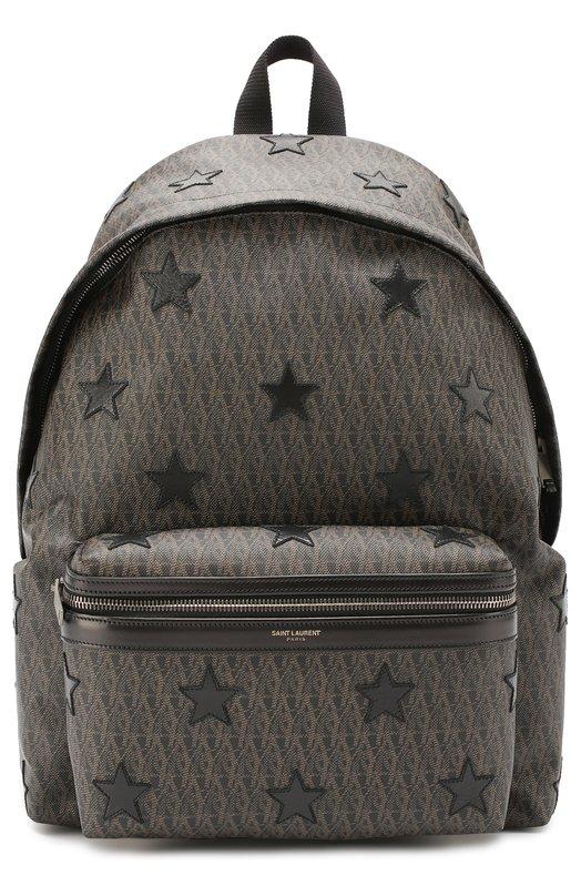 Текстильный рюкзак с отделкой из натуральной кожи Saint Laurent 442279/GITRR