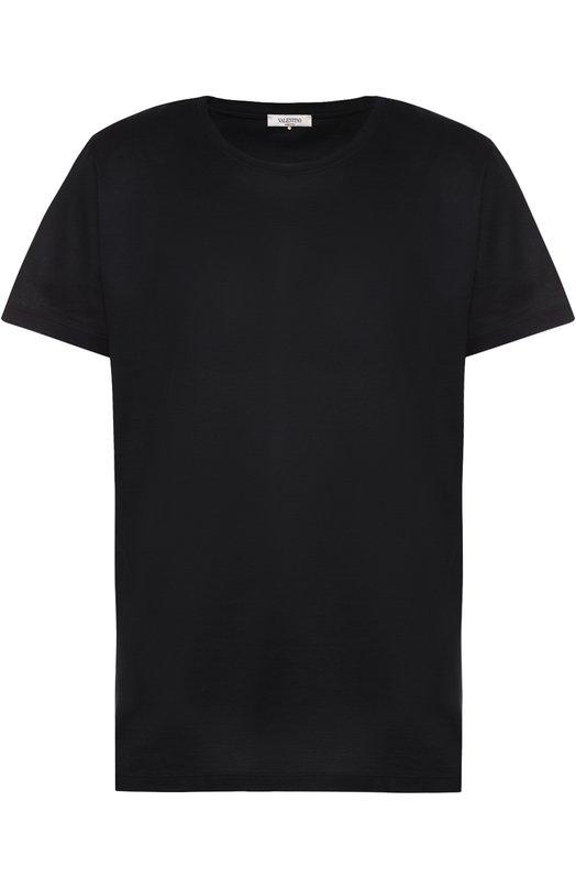Хлопковая футболка с круглым вырезом Valentino MV3MG00W/3MM