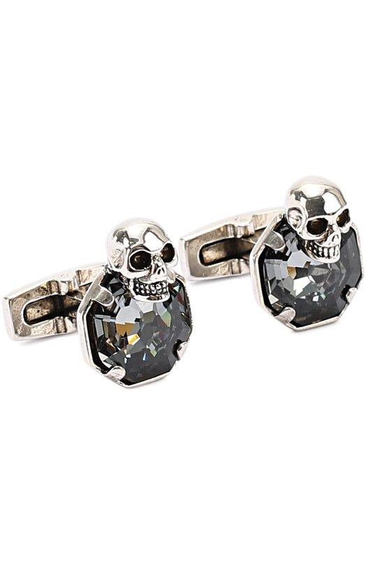 Запонки в виде черепа с кристаллами Swarovski Alexander McQueen 456819/I94VY