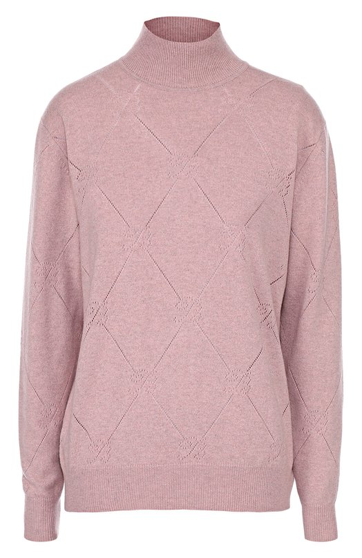 Кашемировый свитер с высоким воротником и перфорацией Blumarine 07100