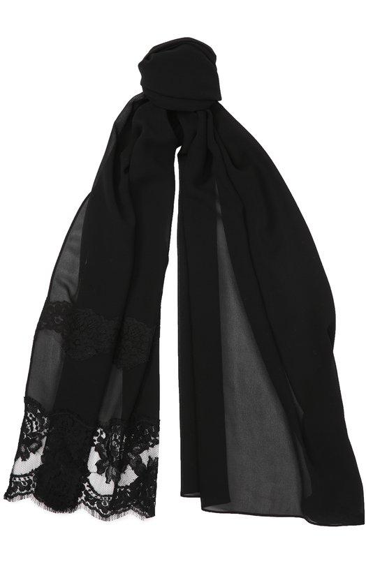 Шелковый шарф с кружевом Dolce & Gabbana 0136/FS166A/G7IGZ