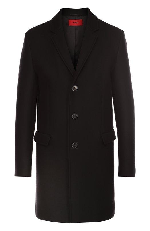 Шерстяное однобортное пальто HUGO 50320784