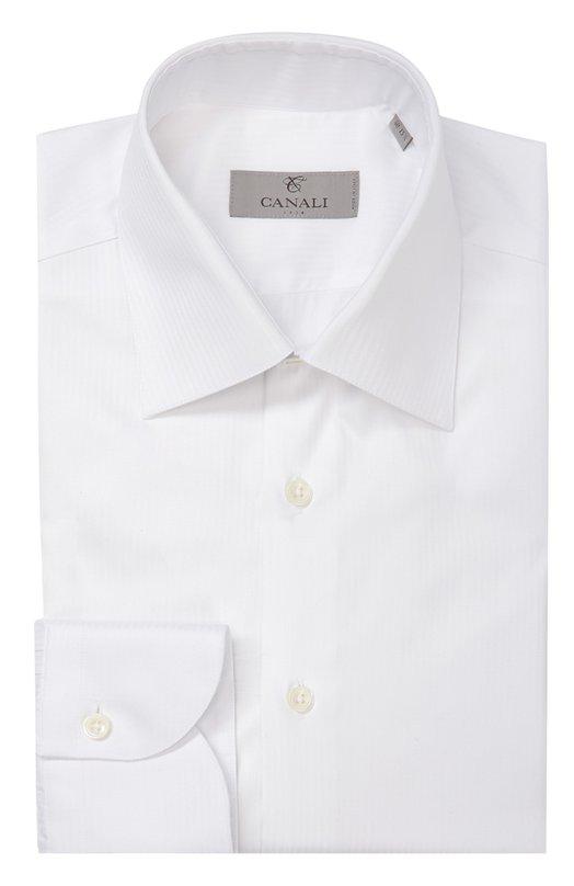 Купить Хлопковая сорочка с воротником кент Canali, GA00098/X10, Италия, Белый, Хлопок: 100%;