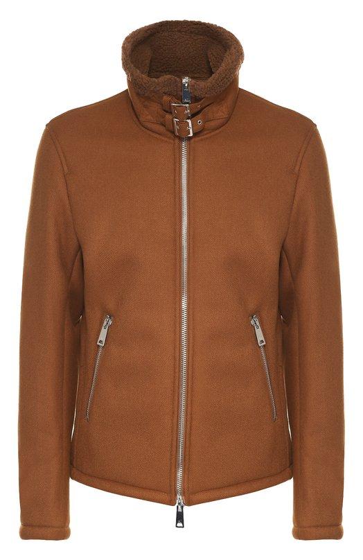 Утепленная куртка на молнии с воротником-стойкой Armani Jeans 6X6B62/6NKAZ