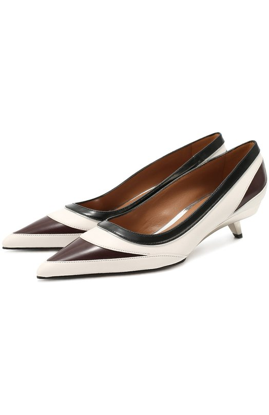 Кожаные туфли на фигурном каблуке Marni PUMSV20C04LV623