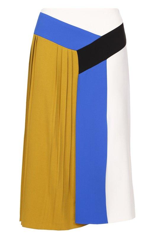 Юбка-миди с контрастной отделкой и плиссированной вставкой Emilio Pucci 67/RW40/67658