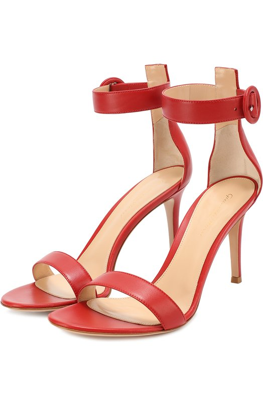 Купить Кожаные босоножки Portofino на шпильке Gianvito Rossi Италия 5118730 G60953.85RIC.NAP