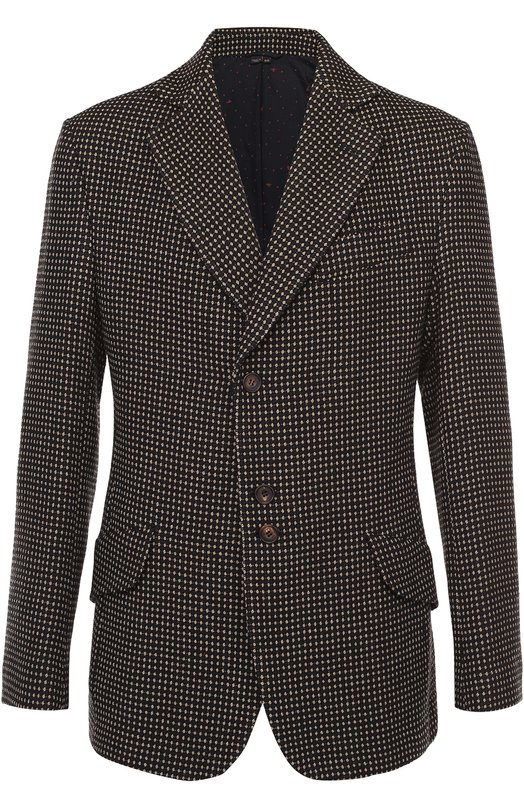Шерстяной однобортный пиджак с узором Vivienne Westwood S25BN0341/S45391