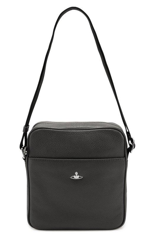 Кожаная сумка-планшет с внешним карманом Vivienne Westwood 131080/10109