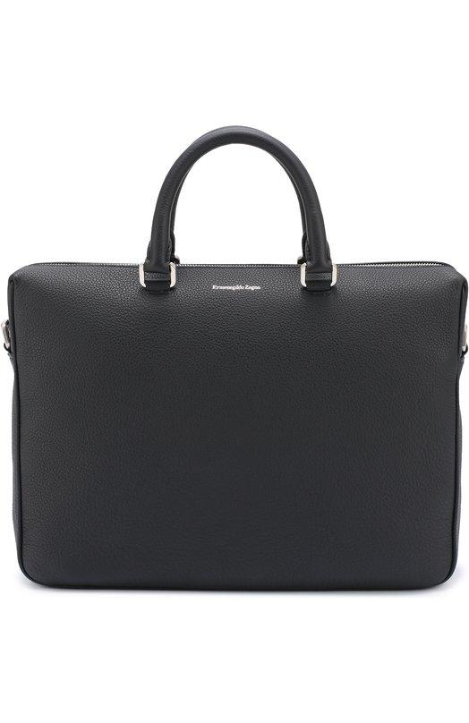 Кожаная сумка для ноутбука с плечевым ремнем Ermenegildo Zegna C1205XT0E