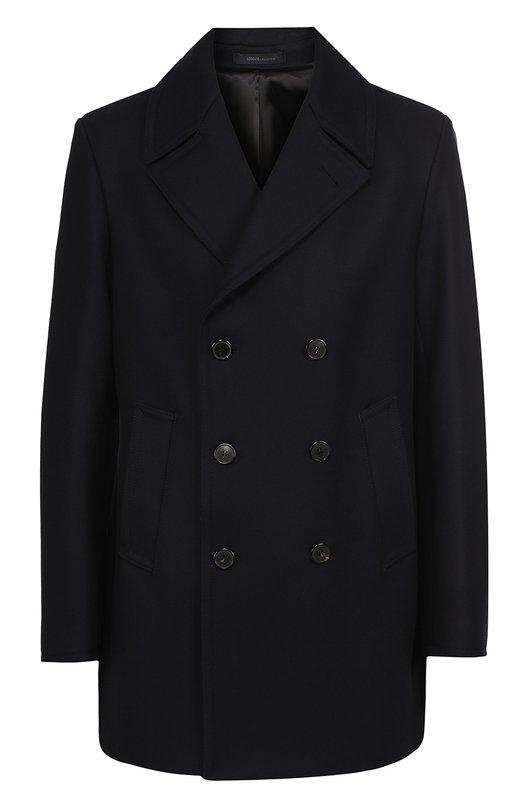Укороченное двубортное пальто из смеси шерсти и кашемира Armani Collezioni UCLDF0/UCW05