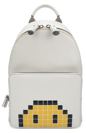 Рюкзак Pixel Smiley Mini Anya Hindmarch белый | Фото №1