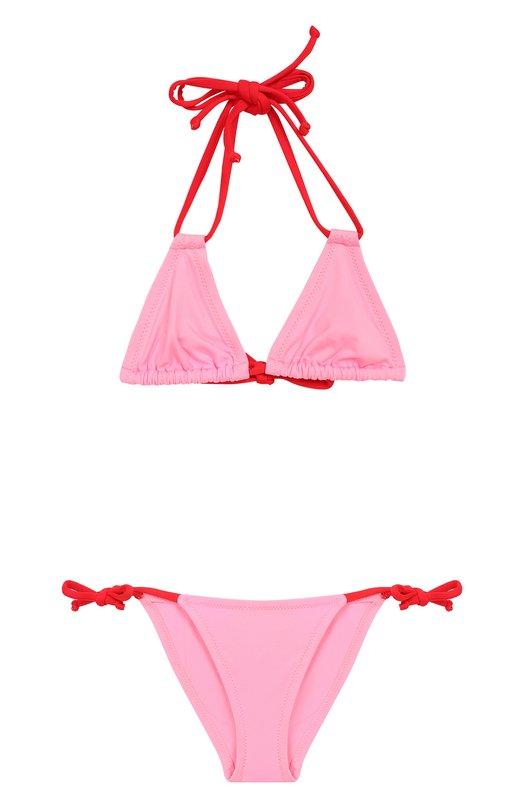 Купить Раздельный купальник color block NATAYAKIM, NY-010/17, Италия, Розовый, Полиамид: 90%; Эластан: 10%;