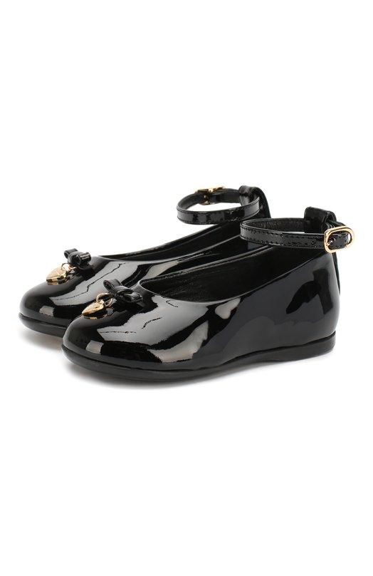Лаковые туфли с бантом и подвеской Dolce & Gabbana 0132/D20030/A1328