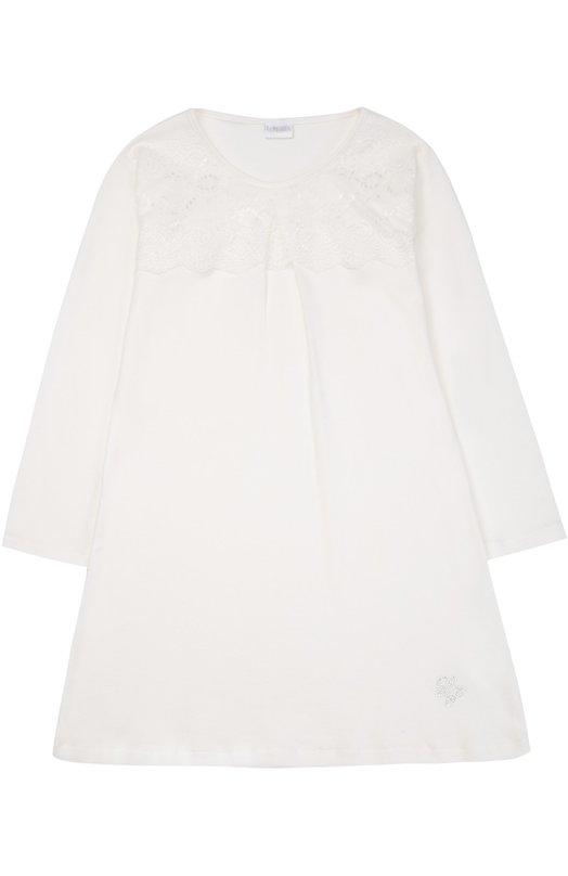 Купить Сорочка с кружевной вставкой La Perla, 54533/2A-6A, Италия, Кремовый, Хлопок: 100%;