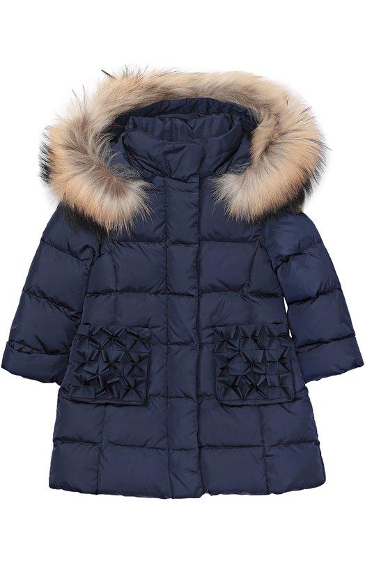 Пуховое пальто с капюшоном Il Gufo A16GP151/N0031/2-4