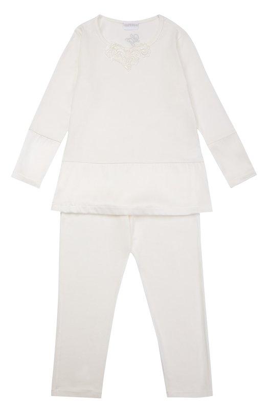 Пижама из вискозы с декором La Perla 54041/2A-6A
