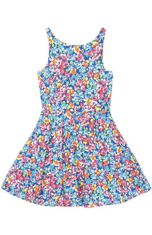 Платье из хлопка с цветочным принтом Polo Ralph Lauren G23/XZ1KQ/XY1KQ