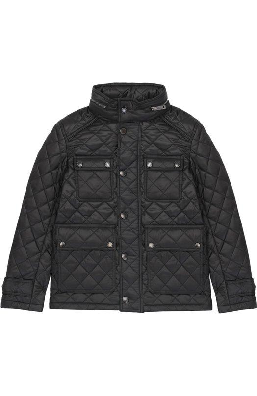 Утепленная стеганая куртка на молнии Burberry 4017979