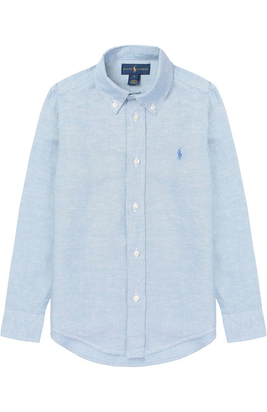 Рубашка из смеси хлопка и льна с воротником button down Polo Ralph Lauren K04/XZ1QL/XY1QL