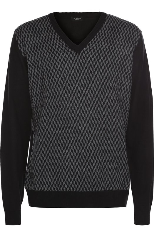 Шерстяной пуловер с контрастным узором Sand 5374/IV