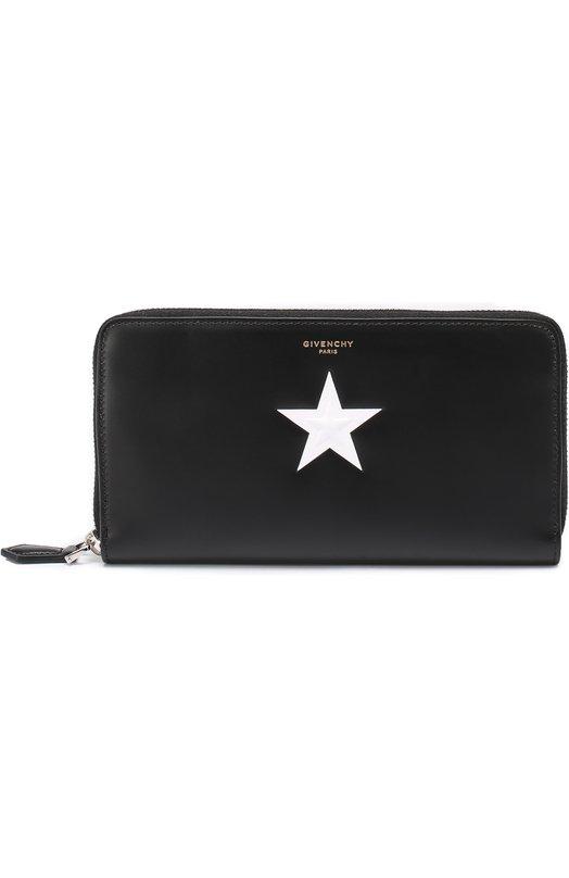 Кожаное портмоне на молнии с отделением для кредитных карт Givenchy BK0/6040/266